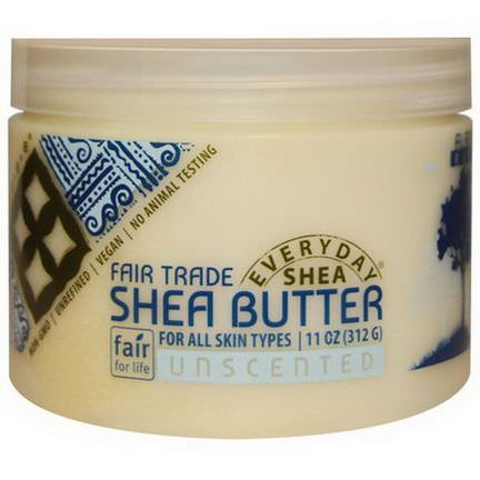Everyday Shea, Shea Butter, Unscented 312g