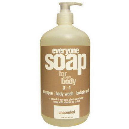 Everyone, Soap For Everybody 3 in 1, Unscented 946ml