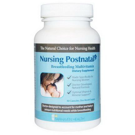Fairhaven Health, Nursing Postnatal Breastfeeding Multivitamin, 60 Veggie Caps