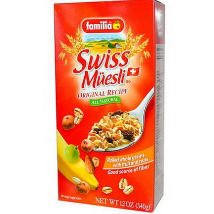 Familia, Swiss Muesli, Rolled Whole Grains with Fruit and Nuts, Original Recipe 340g