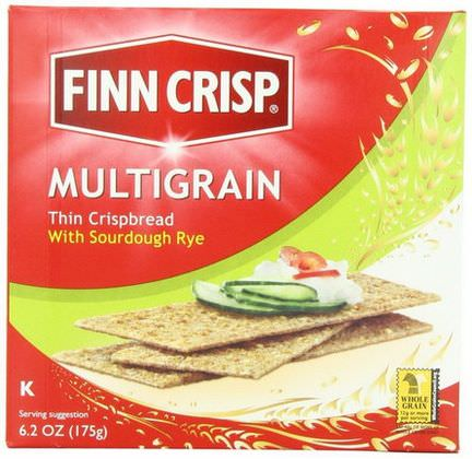 Finn Crisp, Multigrain Thin Crispbread with Sourdough Rye 175g