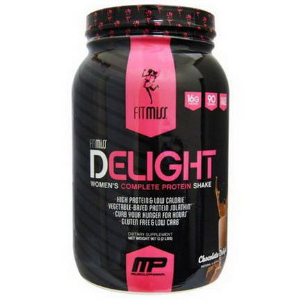 FitMiss, Delight, Women's Complete Protein Shake, Chocolate Delight 907g