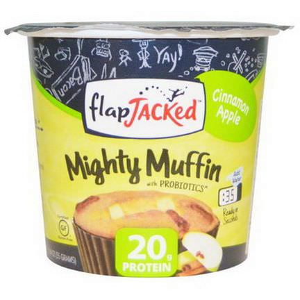 FlapJacked, Mighty Muffin, with Probiotics, Cinnamon Apple 55g