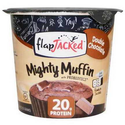 FlapJacked, Mighty Muffin with Probiotics, Double Chocolate 55g