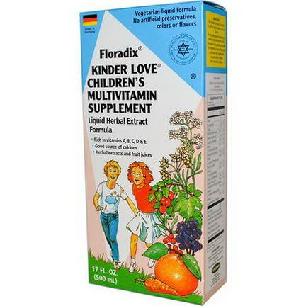 Flora, Floradix, Kinder Love, Children's Multivitamin Supplement 500ml