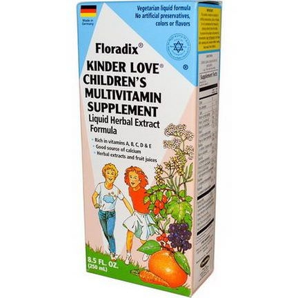 Flora, Floradix, Kinder Love, Children's Multivitamin Supplement 250ml