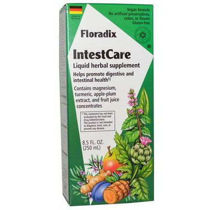 Flora, IntestCare, Liquid Herbal Supplement 250ml