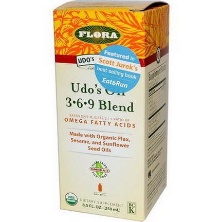 Flora, Organic, Udo's Choice, Udo's Oil 3-6-9 Blend 250ml