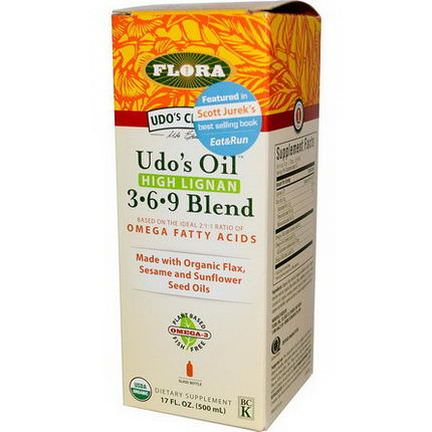 Flora, Udo's Choice, Udo's Oil, 3 6 9 Blend, High Lignan 500ml