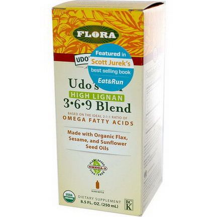 Flora, Udo's Choice, Udo's Oil, 3-6-9 Blend, High Lignan 250ml