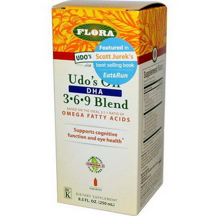 Flora, Udo's Choice, Udo's Oil, DHA 3 6 9 Blend 250ml