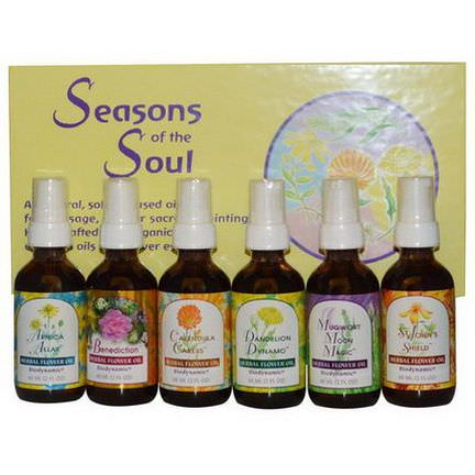 Flower Essence Services, Seasons of the Soul, 6 Bottles 60ml Each