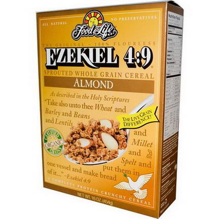 Food For Life, Ezekiel 4:9, Sprouted Whole Grain Cereal, Almond 454g