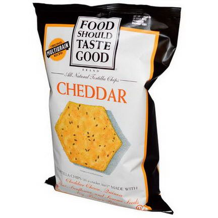 Food Should Taste Good, All Natural Tortilla Chips, Cheddar 156g