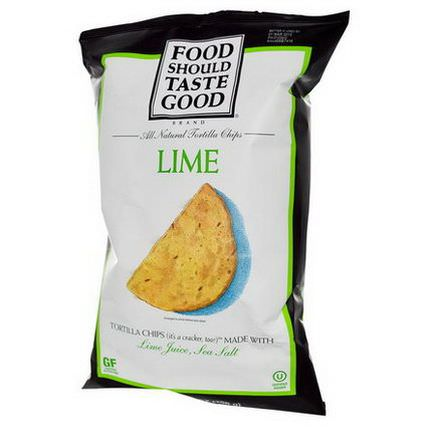Food Should Taste Good, All Natural Tortilla Chips, Lime 156g