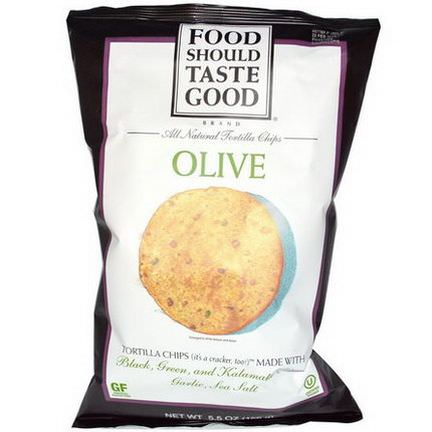 Food Should Taste Good, All Natural Tortilla Chips, Olive 156g