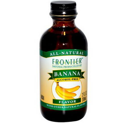 Frontier Natural Products, Banana Flavor, Alcohol-Free 59ml