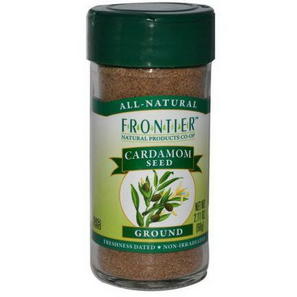 Frontier Natural Products, Cardamom Seed, Ground 60g