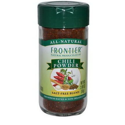 Frontier Natural Products, Chili Powder, Salt-Free Blend 58g
