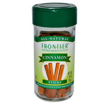 Frontier Natural Products, Cinnamon Sticks 36g