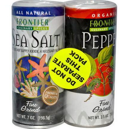 Frontier Natural Products, Culinary Spices, Salt&Pepper Combo Pack