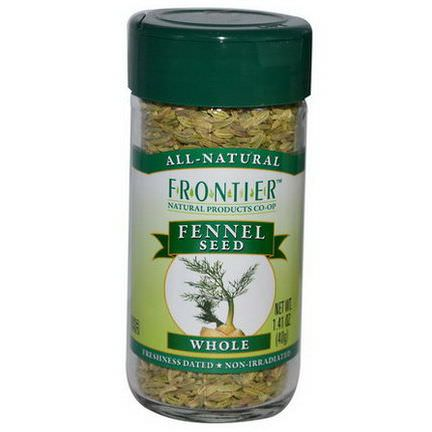 Frontier Natural Products, Fennel Seed, Whole 40g