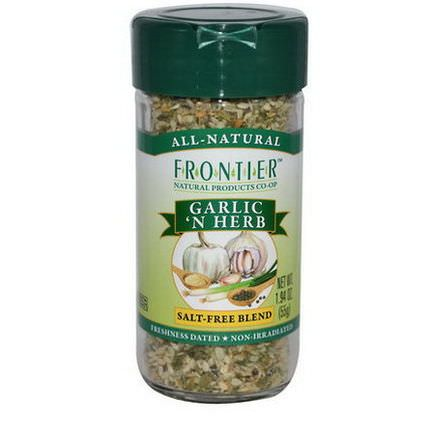 Frontier Natural Products, Garlic'N Herb, Salt-Free Blend 55g