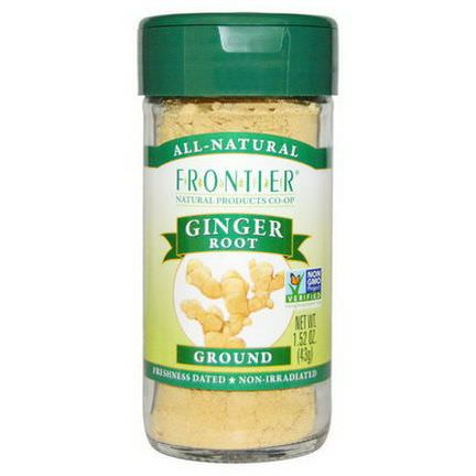 Frontier Natural Products, Ginger Root, Ground 43g