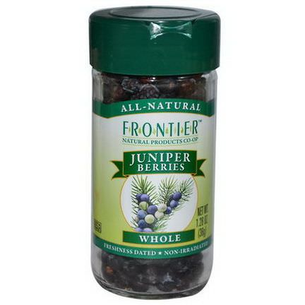 Frontier Natural Products, Juniper Berries, Whole 36g
