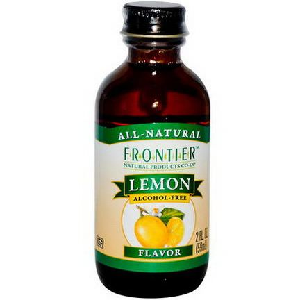 Frontier Natural Products, Lemon Flavor, Alcohol-Free 59ml