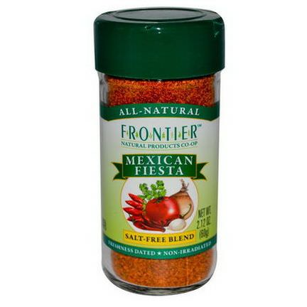 Frontier Natural Products, Mexican Fiesta, Salt-Free Blend 60g