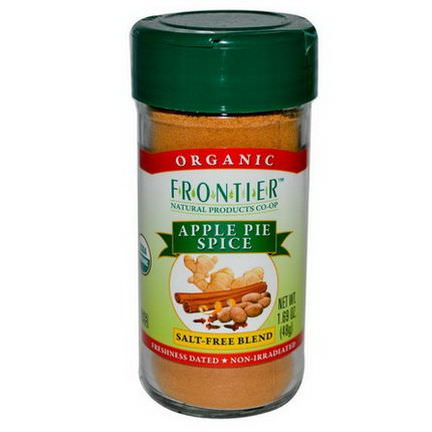Frontier Natural Products, Organic, Apple Pie Spice, Salt-Free Blend 48g