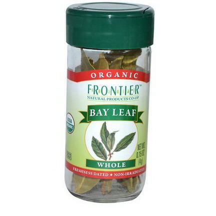 Frontier Natural Products, Organic Bay Leaf, Whole 4g