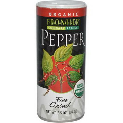 Frontier Natural Products, Organic Black Pepper, Fine Grind 70.9g