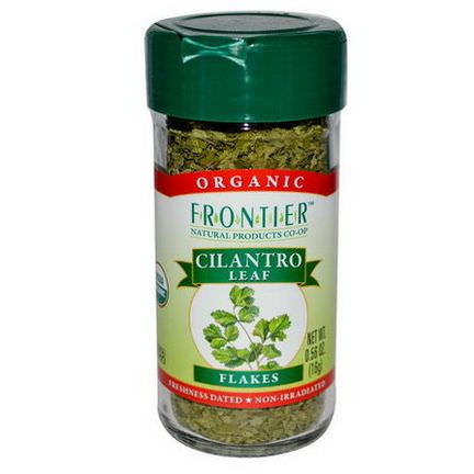 Frontier Natural Products, Organic Cilantro Leaf, Flakes 16g