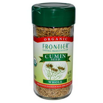 Frontier Natural Products, Organic Cumin Seed, Whole 47g