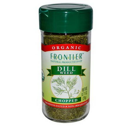 Frontier Natural Products, Organic Dill Weed, Chopped 20g