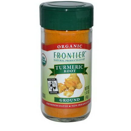 Frontier Natural Products, Organic Fair Trade Certified, Turmeric Root, Ground 40g