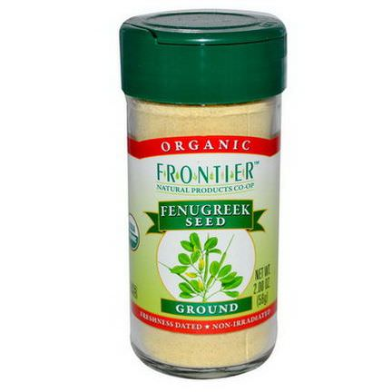 Frontier Natural Products, Organic Fenugreek Seed, Ground 56g
