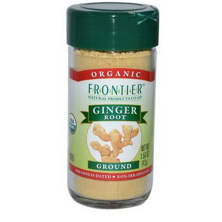 Frontier Natural Products, Organic Ginger Root, Ground 42g