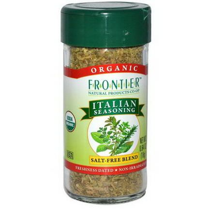 Frontier Natural Products, Organic Italian Seasoning, Salt-Free Blend 18g
