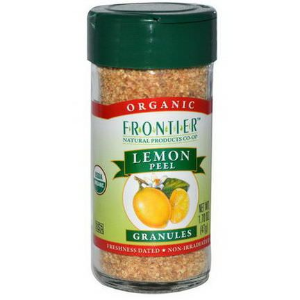 Frontier Natural Products, Organic Lemon Peel, Granules 47g