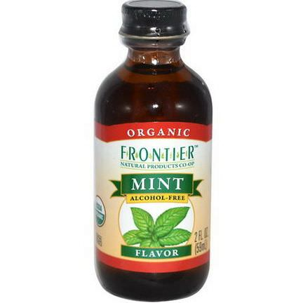 Frontier Natural Products, Organic Mint Flavor, Alcohol Free 59ml