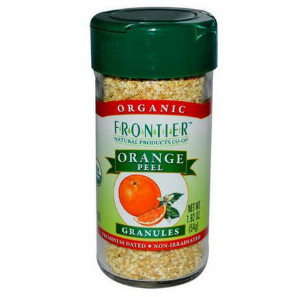 Frontier Natural Products, Organic Orange Peel, Granules 54g