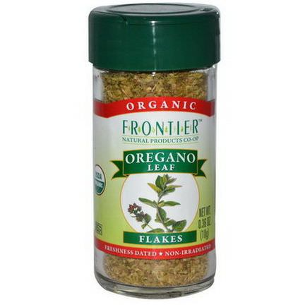 Frontier Natural Products, Organic Oregano Leaf Flakes 10g