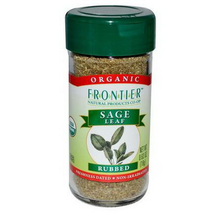 Frontier Natural Products, Organic Sage Leaf, Rubbed 18g