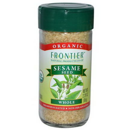 Frontier Natural Products, Organic Sesame Seed, Whole 65g