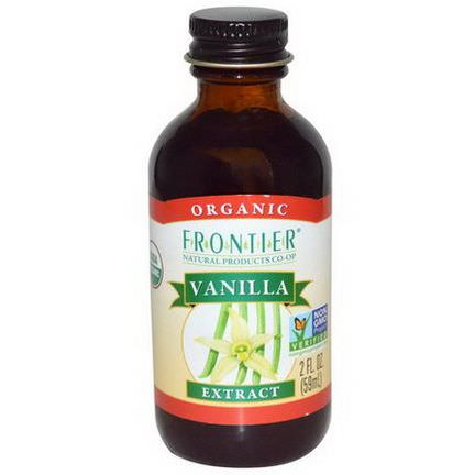 Frontier Natural Products, Organic, Vanilla Extract 59ml