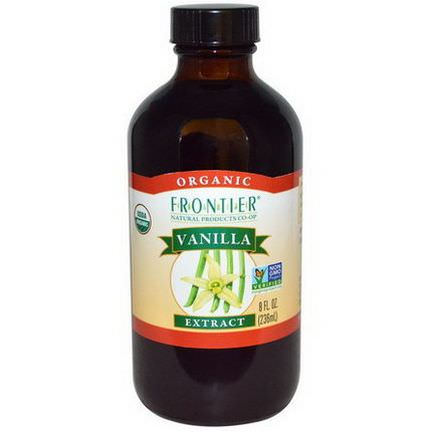 Frontier Natural Products, Organic, Vanilla Extract 236ml