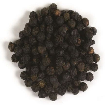Frontier Natural Products, Organic Whole Black Peppercorns 453g